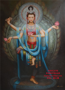 Free-shipping-Pure-hand-painting-oil-painting-font-b-buddha-b-font-when-bodhisattva-entranceway-decoration